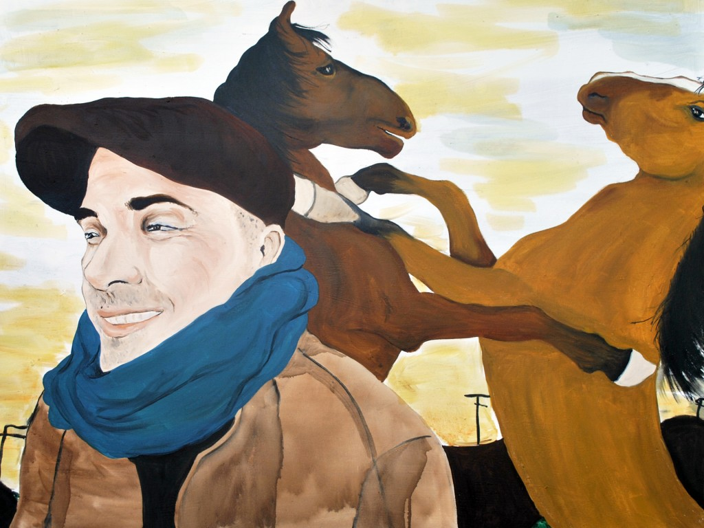Christopher with Horses from Transitions, 2015 Rita Bolla