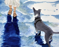 Dog is My Witness 2010 oil on canvas 30 x 40 inches 450 dollars