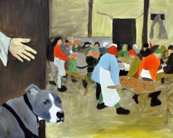 Dog is My Witness 2010 oil on canvas 30 x 40 inches 350 dollars