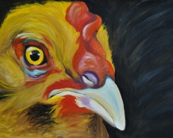 The Vegan Project 2014 oil on canvas 24x30 inches SOLD