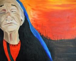 Sun Salutation_Pema $450 2014 oil on canvas 30 x 40 inches
