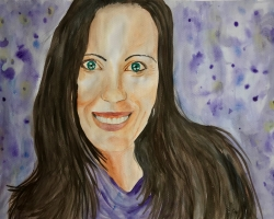 Melissa 2019 watercolor on paper 18x24inch $200