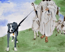 Dog is My Witness 2010 oil on canvas 30 x 40 inches SOLD