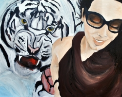 Wild Things II_Tiger 2013 oil on canvas 36x48 inches $750